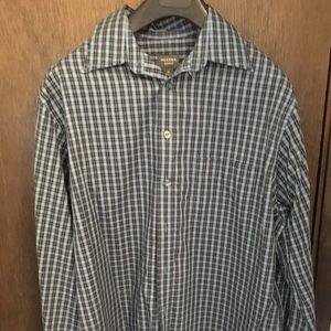 %% Merona Men's Shirt Button Up Top M Patterned